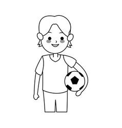 Boy cute cartoon icon image vector