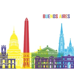 Buenos Aires skyline pop vector image