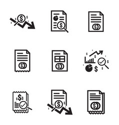 business analysis icon symbol with magnifying vector image