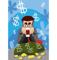 Business recession vector