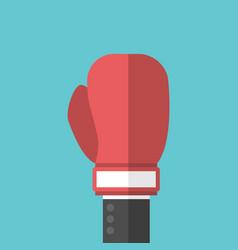Businessman hand boxing glove vector