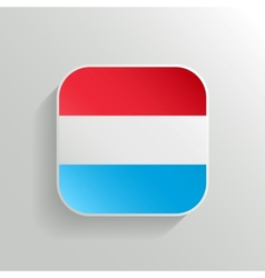 Button - Luxembourg Flag Icon vector image