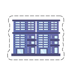 Cartoon building residential town vector