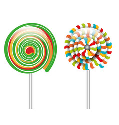 cartoon lollipop spiral graphic isolated vector image