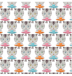 cat ballerina pattern dancing cat vector image