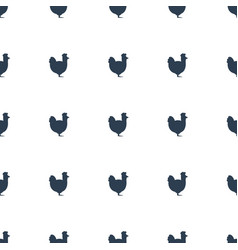 Chicken icon pattern seamless white background vector