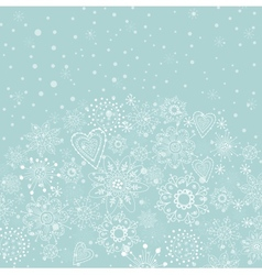 christmas card with light blue background vector image