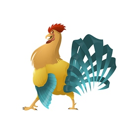 Color chiken vector image