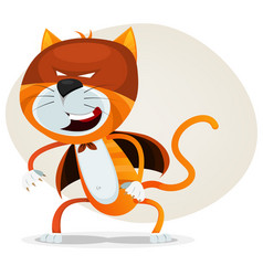 Comic super cat vector