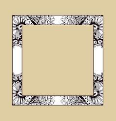 decorative cartoon frame doodle hand drawn border vector image