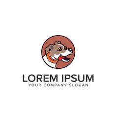 dog logo design concept template vector image