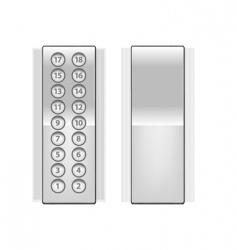 elevator buttons vector image