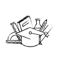 Figure school tool elements to education study vector