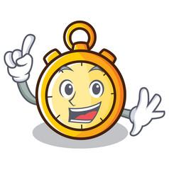 Finger chronometer character cartoon style vector