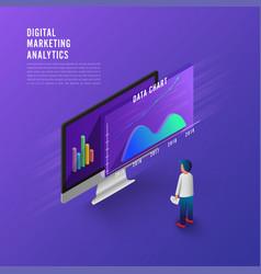 flat design concept business strategy 3d vector image