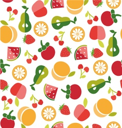 Fruit background in Flat style vector image