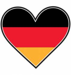 German heart flag vector