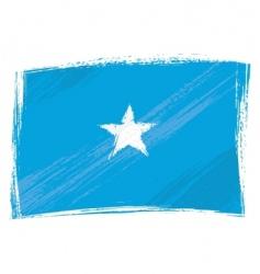 grunge Somalia flag vector image
