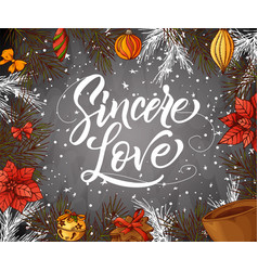 holiday vintage design for card christmas vector image