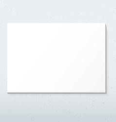 horizontal white poster mockup vector image