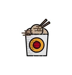 Ice cream flat icon vector image