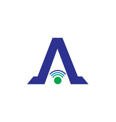 initial letter a signal logo design template vector image