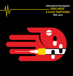 international day against drug abuse background vector image