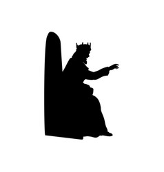 King gives decree king herod nativity vector