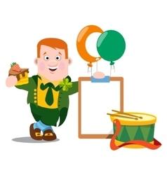 Man in the Irish pub St Patrick s Day vector