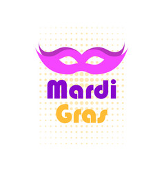 mardi gras mask violet color pop art dots vector image