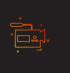 media and camera icon design vector image