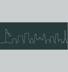 mexico city single line skyline vector image