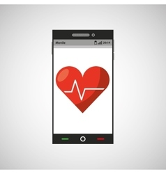 mobile app health cardiology design vector image