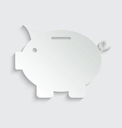 Money icon piggy bank - saving money icon vector