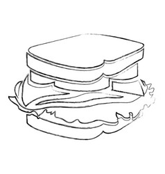 Monochrome blurred contour with sandwich vector