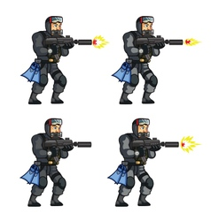 Navy Seal Shooting Sprite vector