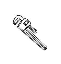 plumbing key outline vector image