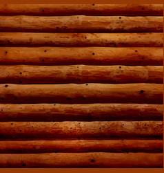 Realistic log cabin wood wall vector