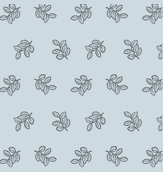 Seamless pattern background branches with leaves vector