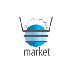 shopping logo vector image
