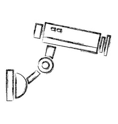 surveillance camera symbol vector image