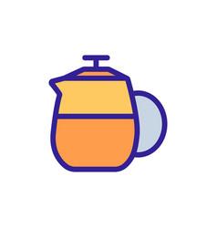 Tea spill kettle icon outline vector