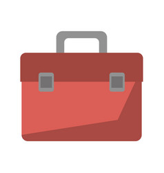Toolbox suitcase isolated vector