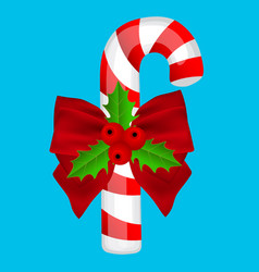 Traditional christmas candy on a blue background vector