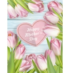 Tulips for mothers day eps 10 vector