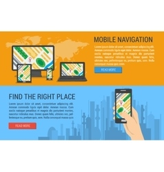 Two banners - mobile navigation vector