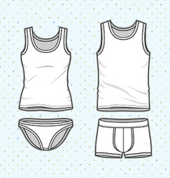Underwear set vector image