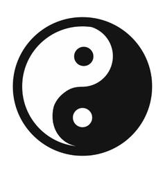 Yin yang simple icon vector