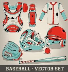Baseball Set vector image vector image