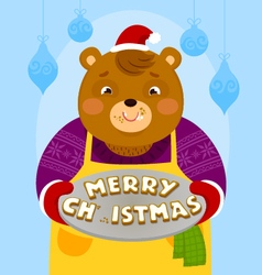 bear with Christmas cookies vector image vector image